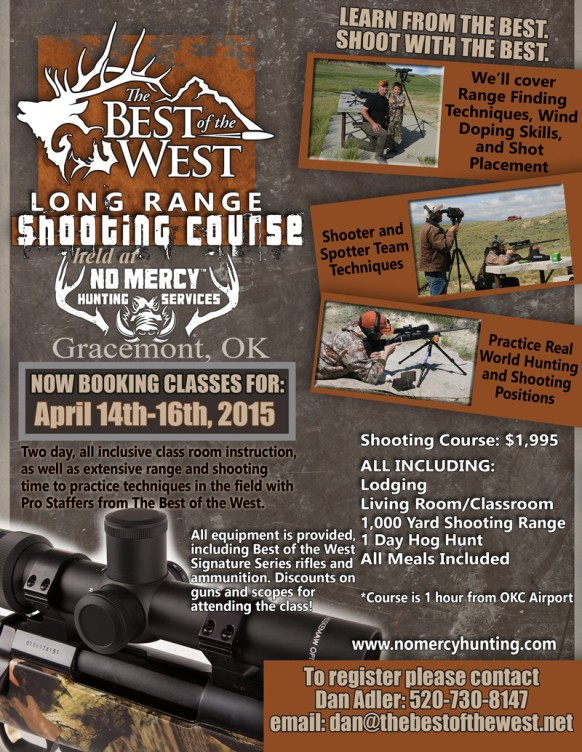 Best of the West Shooting School at No Mercy Hunting Services